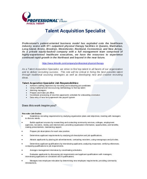 Talent Acquisition Specialist