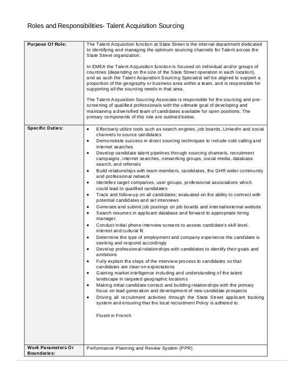 Talent Consultant Roles and Responsibilities