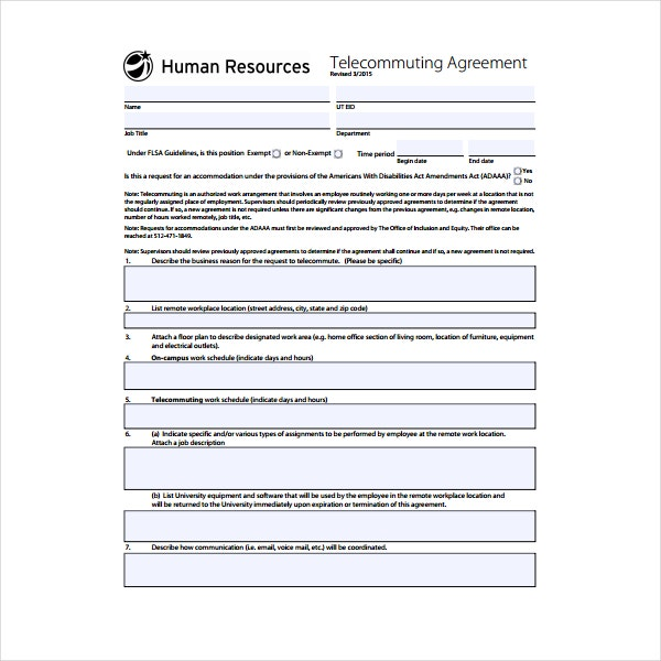 Telecommuting Policy Templates PDF Free Premium Templates - Telecommuting agreement template