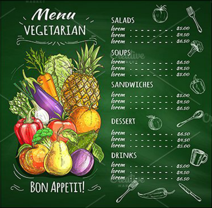 vector-salad-restaurant-menu-template