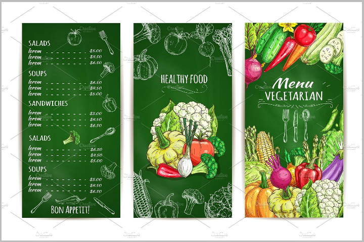 vegetarian-salad-menu-template
