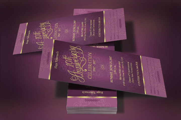 victorian restaurant anniversary invitation ticket template