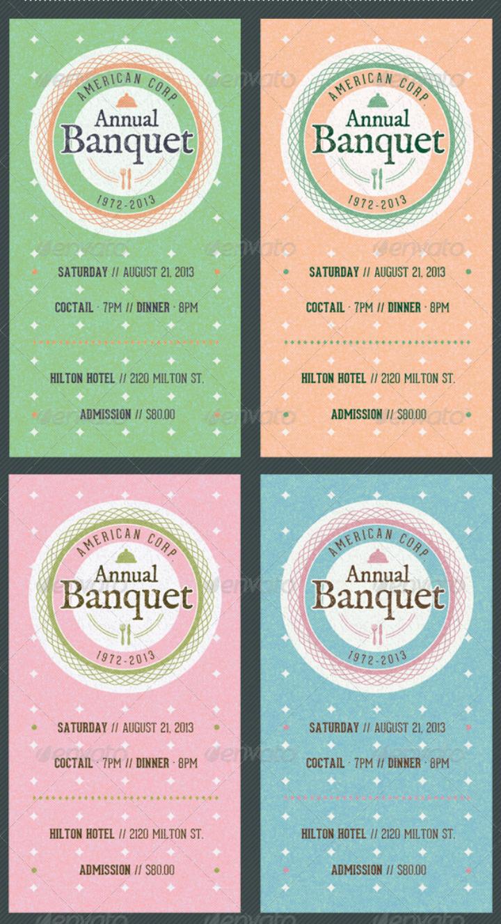 vintage-restaurant-banquet-invitation-ticket-template