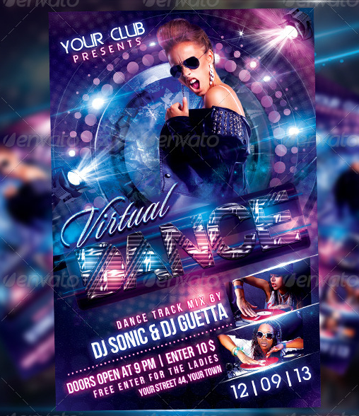 Virtual Dance Flyer Template