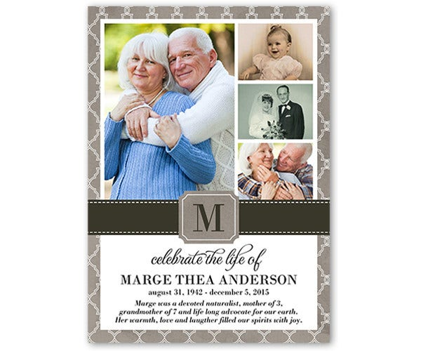 Warm Remembrance Memorial Card Template