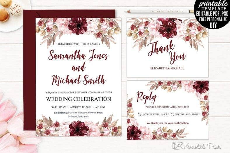 Romantic Wedding Invitation Template