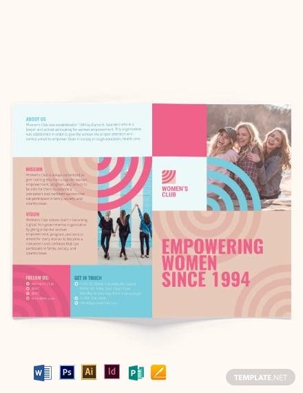 womens day bi fold brochure template