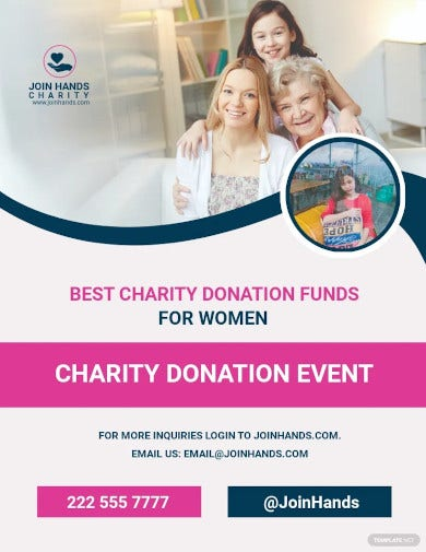 womens day out cancer flyer template