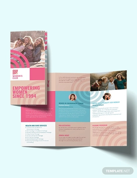 womens day tri fold brochure template