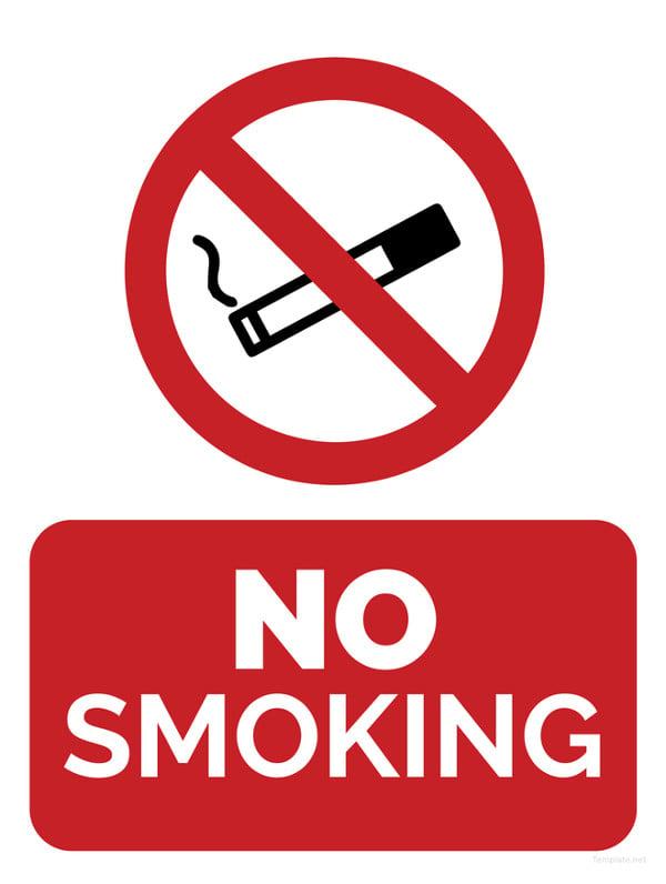 Workplace No Smoking Template