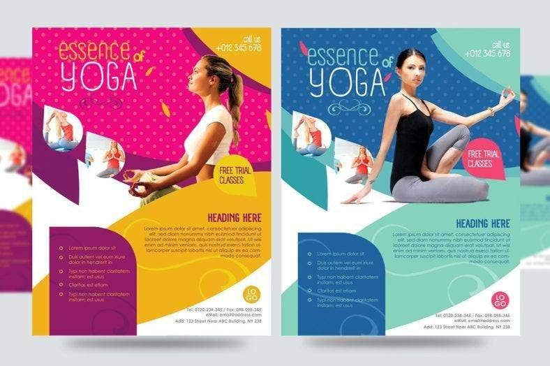 yoga flyer template 788x524