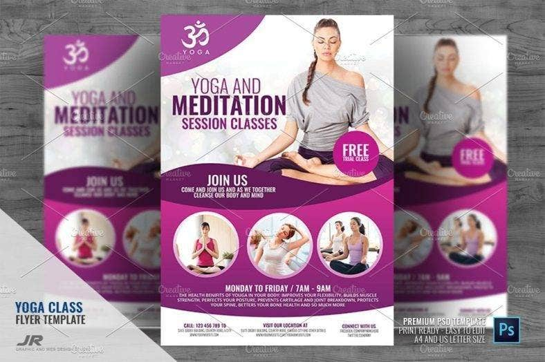 Yoga and Meditation Classes Flyer