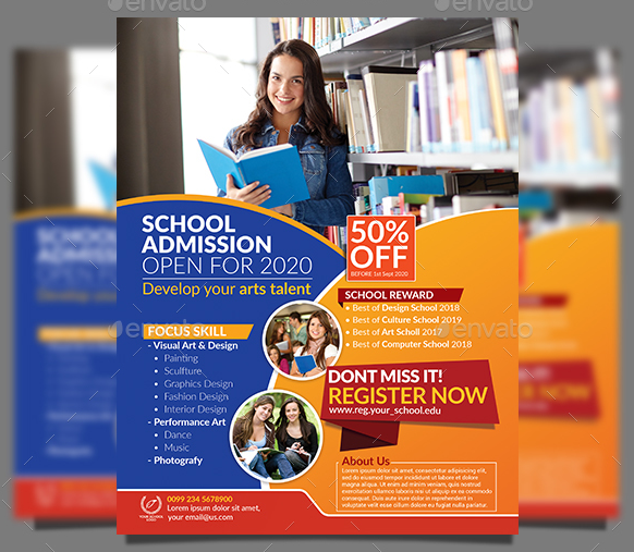 9+ Admission Flyer Designs & Templates - PSD, AI | Free & Premium