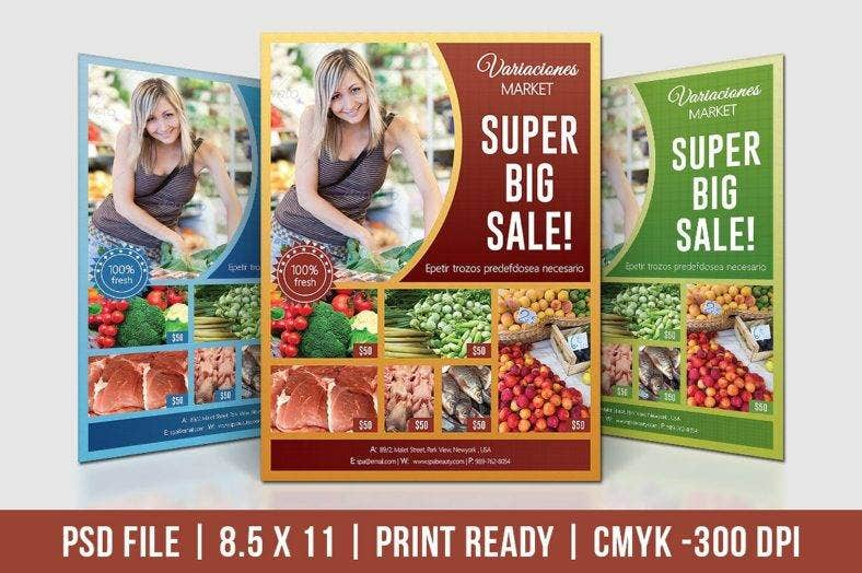 big sale supermarket flyer template 788x524