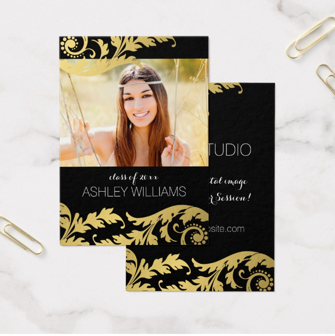black-and-gold-senior-rep-card-template