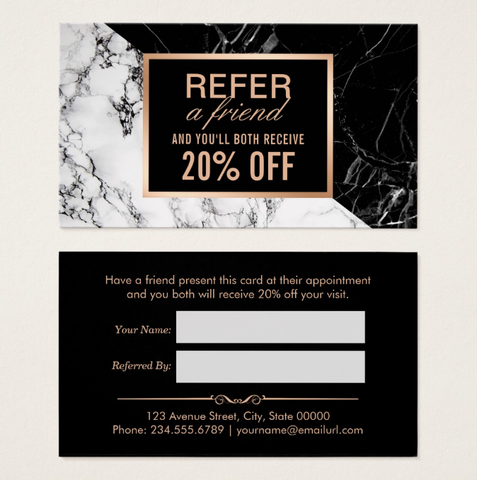 black-and-white-marble-referral-coupon-template