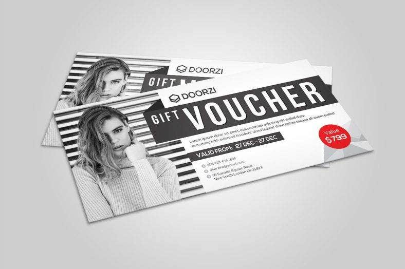 black and white shopping voucher template 788x524