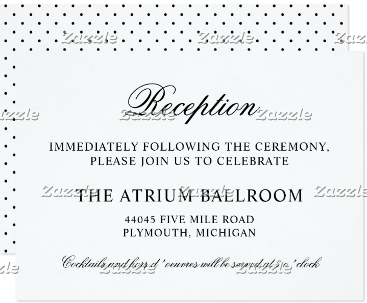 black-classic-wedding-reception-card-template