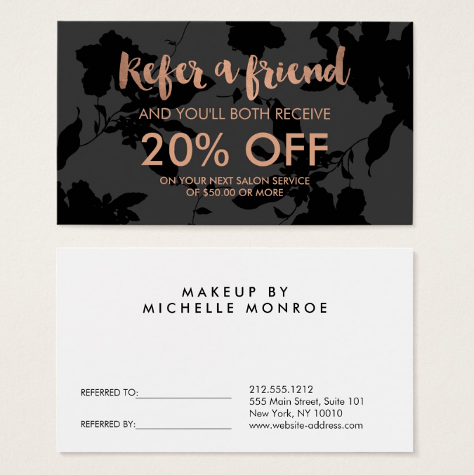 black-floral-referral-coupon-template