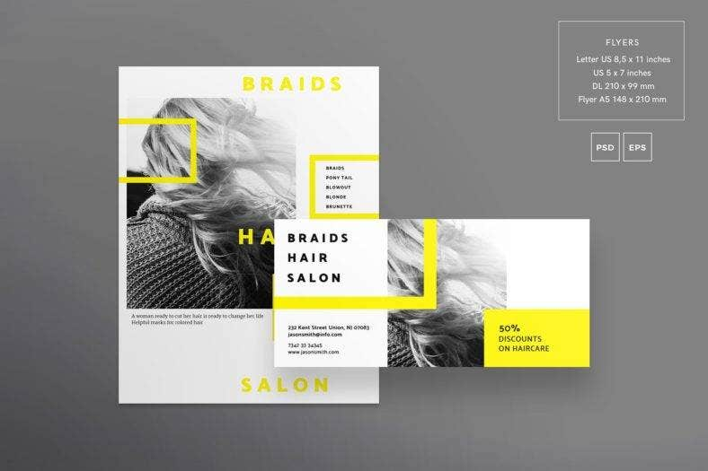 braids-hair-salon-flyer