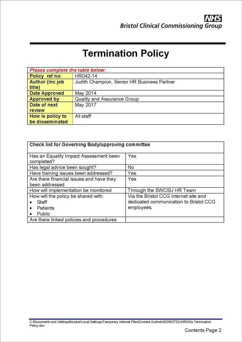 2+ Termination and Severance Pay Policy Templates - PDF | Free ...