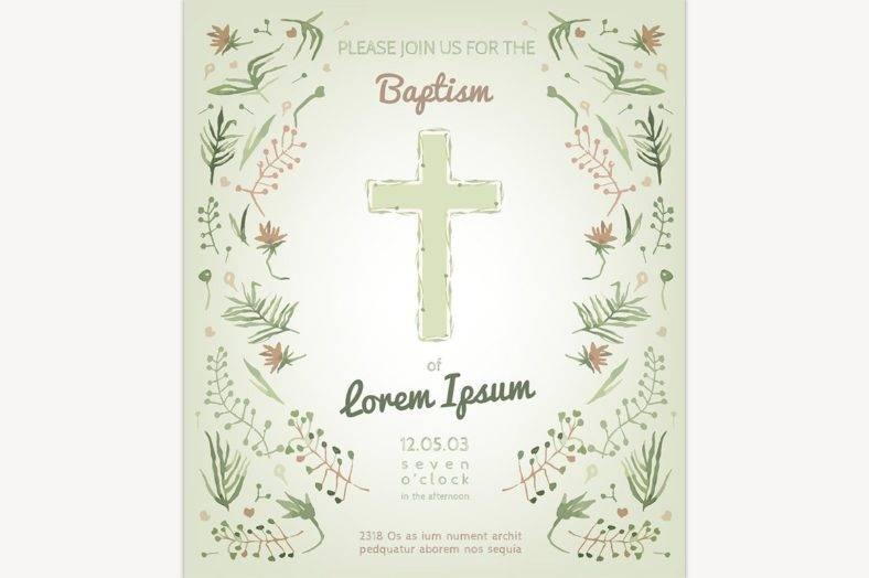 clean christening invitation template 788x524