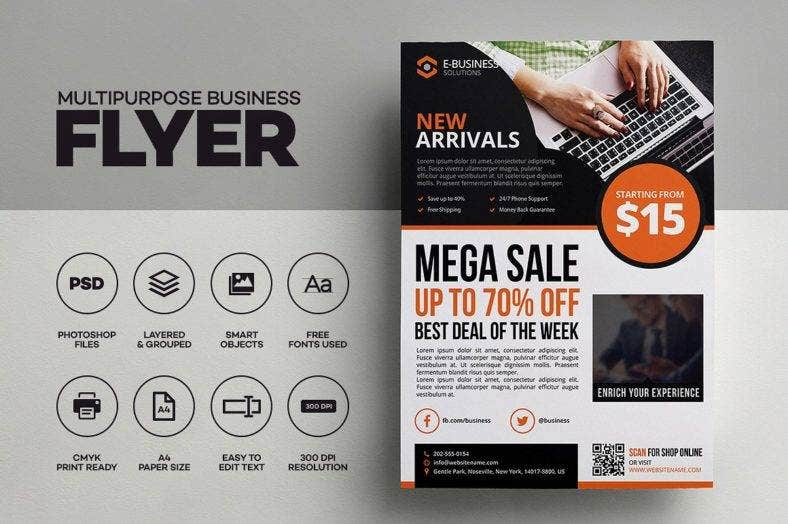 8  ecommerce flyer templates
