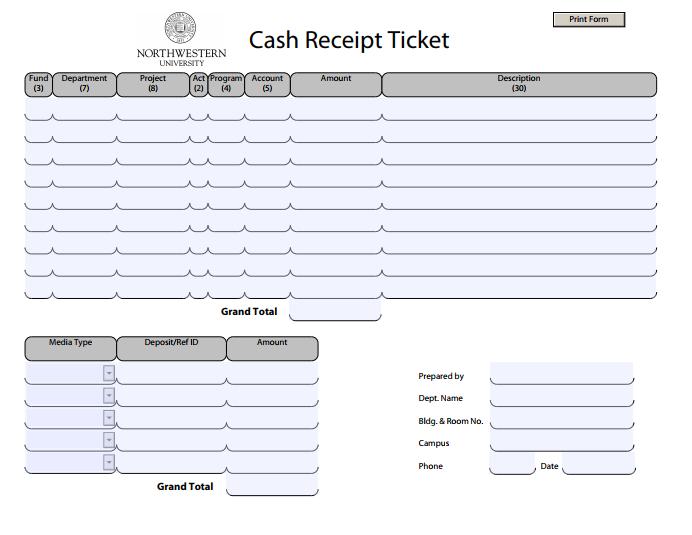20+ Printable Cash Receipt Templates - PDF, Word | Free & Premium ...