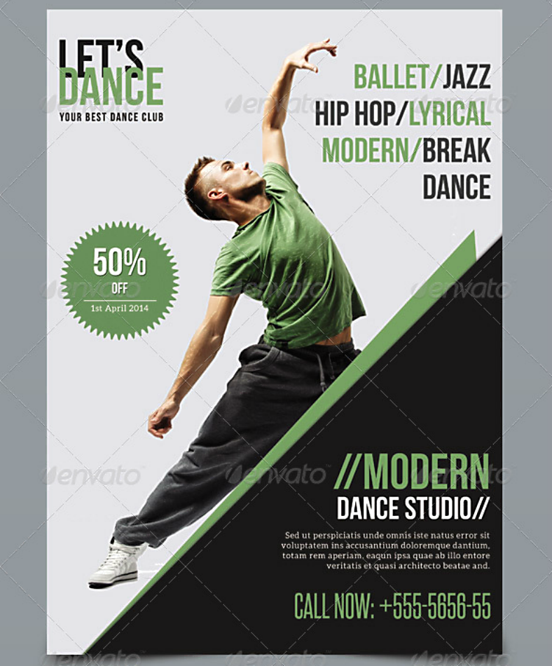 15+ Dance Studio Flyer Designs & Templates