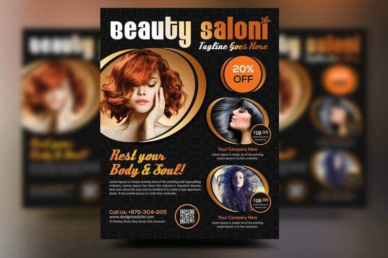 dark-hair-salon-flyer