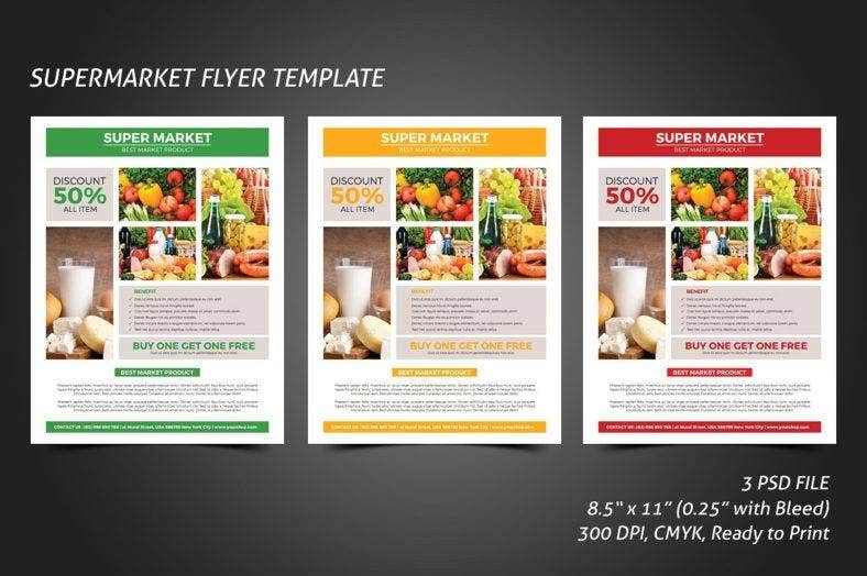 discount supermarket flyer template 788x524