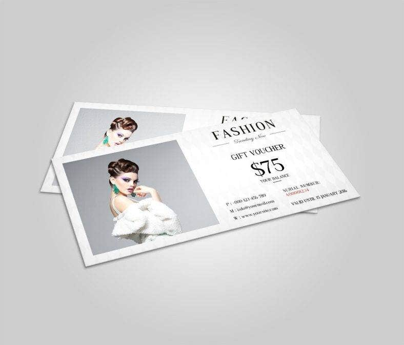 fashion shopping voucher template 788x672