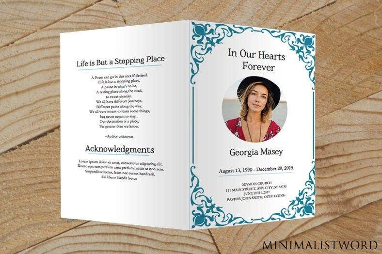 Memorial Card Designs  Templates  Psd Ai Indesign  Free