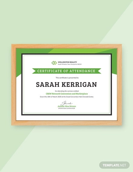 free workshop attendance certificate