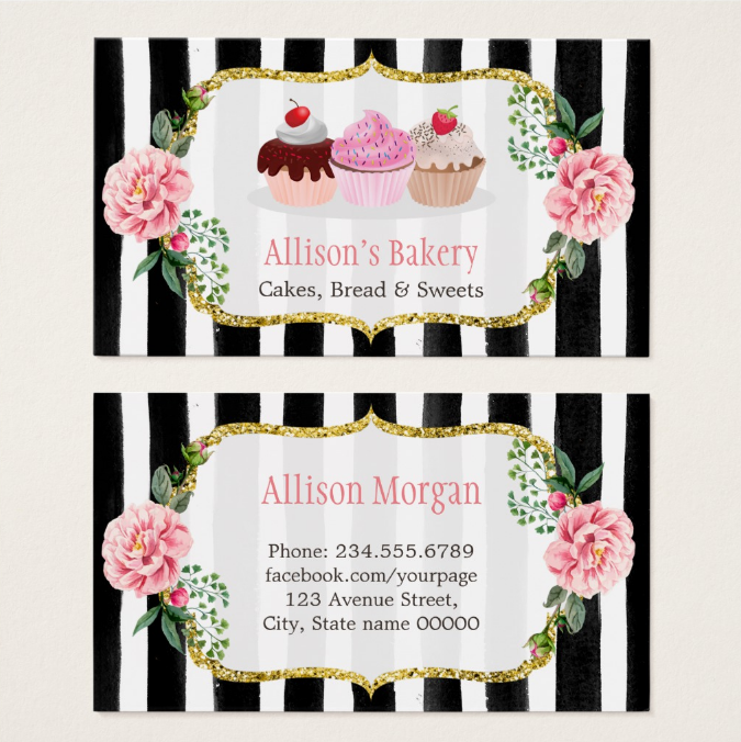 gold-and-pink-floral-cupcake-business-card