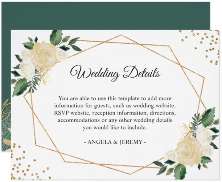 green-ivory-wedding-reception-card-template