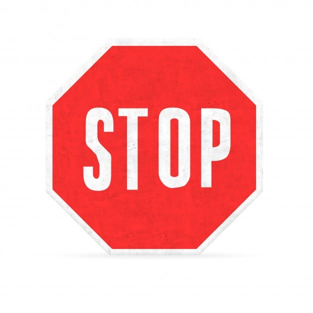 Hexagon Stop Sign