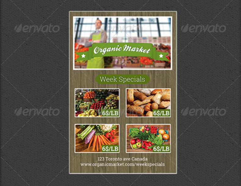 indesign supermarket flyer template 788x607