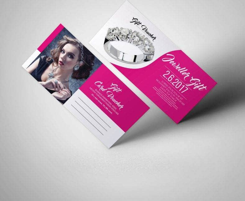 jewelry shoppig voucher template 788x645