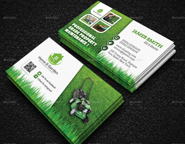 14 landscaping business card designs templates psd ai free garden service landscaping business card template accmission Images