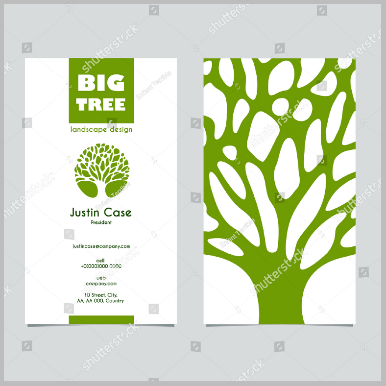 Landscape Business Card
