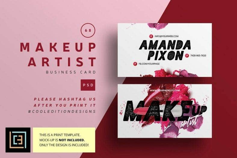 11 beauty business card designs templates psd ai free makeup artist business card 68 preview 7 reheart Choice Image