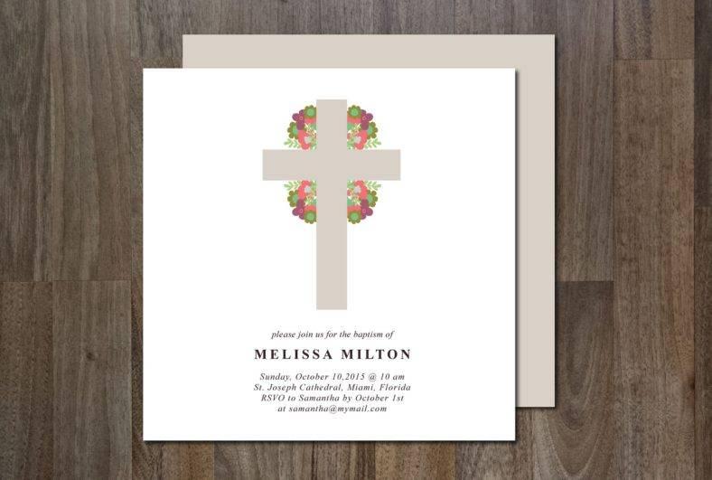 minimal christening invitation template 788x531