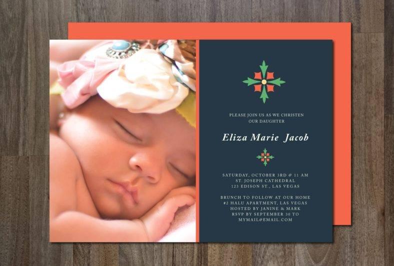 modern christening invitation template 788x531