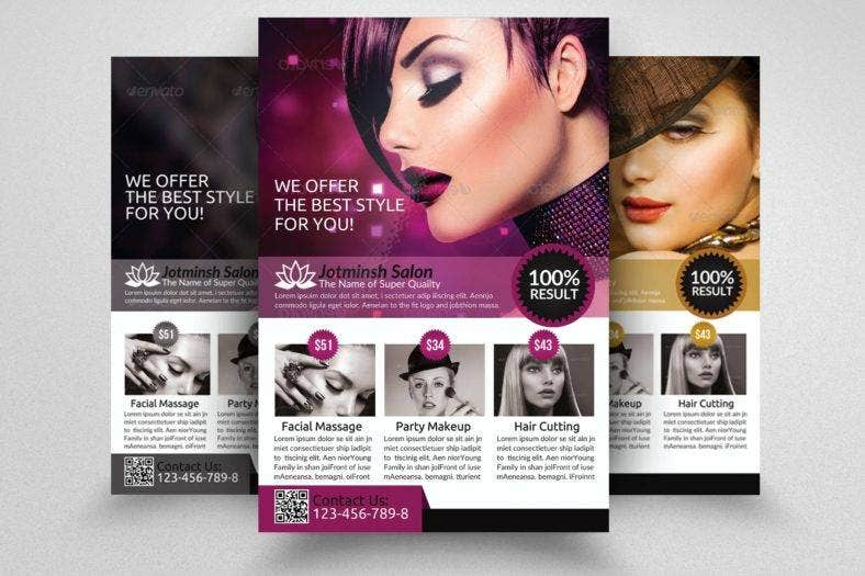Hair Salon Flyer Designs  Templates  Psd Ai Indesign Ms