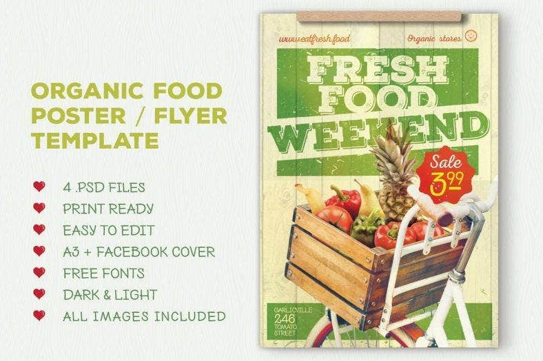 organic food supermarket flyer template 788x524