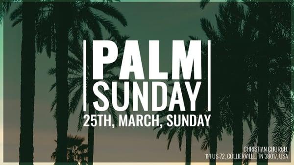 palm sunday google plus cover