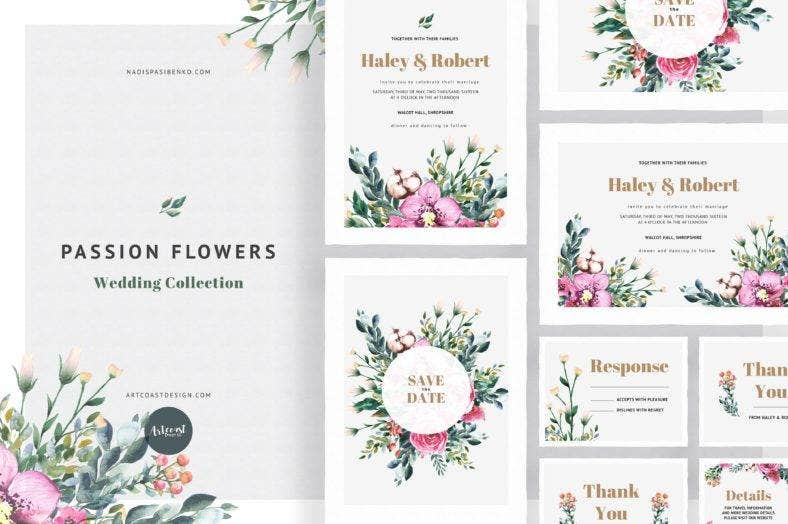 passion-flowers-and-leaves-invitation-template-collection