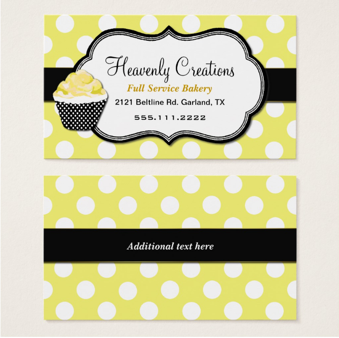 polka-dots-cupcake-business-card