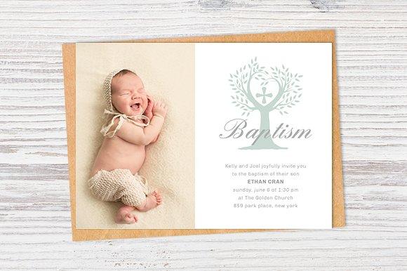 simple christening invitation template